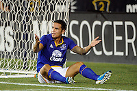 Tim Cahill (17) of Everton FC looks for a call. The Philadelphia Union defeated Everton FC 1-0 during an international friendly at PPL Park in Chester, PA, on July 20, 2011.