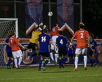 The number 24 ranked Furman Paladins took on the number 20 ranked Clemson Tigers in an inter-conference game at Clemson's Riggs Field.  Furman defeated Clemson 2-1.  Sven Lissek (1), Alexandra Rome'o Happi (15), Kevin Pahl (14), Dylan Rowe (4)