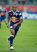 21 August 2010: New York Red Bulls forward Thierry Henry #14 in action during a game between the New York Red Bulls and Toronto FC at BMO Field in Toronto..The New York Red Bulls won 4-1.