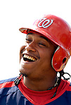 25 February 2007: Washington Nationals infielder Ronnie Belliard awaits his turn in the batting cage during practice drills at their spring training facility in Viera, Florida.<br /> <br /> Mandatory Photo Credit: Ed Wolfstein Photo