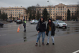 Dina & Kolya - participants of the peaceful rally on the eve of anniversary of the proclamation of the Belarusian People's Republic and the against so called 'parasite tax' that affects people what are not in full-time employment. More than 800 detentions were happened during rally. Minsk, Belarus. March 26th, 2017