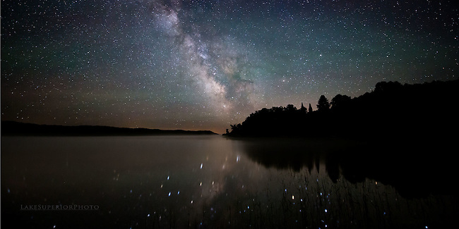 Milky Way reflections, panorama