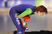 SPEEDSKATING: CALGARY: 14-11-2015, Olympic Oval, ISU World Cup, Ladies 1000m, Jorien ter Mors (NED), Nederlands record: 1.12,66, ©foto Martin de Jong