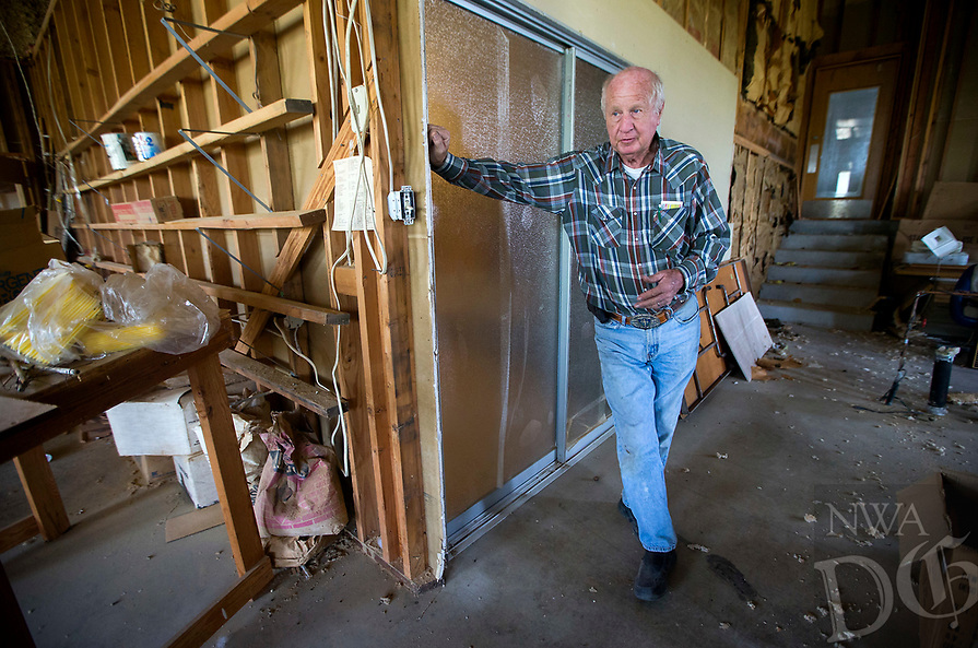 NWA Democrat-Gazette/JASON IVESTER<br /> State Rep. Kim Hendren discusses the plans for the Shiloh Community Wednesday, April 12, 2017, in Sulphur Springs.