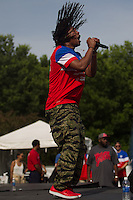 CHICAGO, Illinois - Monday June 16, 2014: Lupe Fiasco performs before the World Cup match between US Men's National team and Ghana.