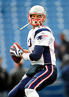 20 December 2009: New England Patriots' quarterback Tom Brady warms up prior to facing the Buffalo Bills at Ralph Wilson Stadium in Orchard Park, New York. The Patriots defeated the Bills 17-10. Mandatory Credit: Ed Wolfstein Photo