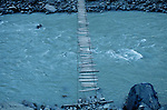 Footbridge above the Hunza River, Pakistan