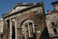Portico di Ottavia (porticus Octaviae), complesso monumentale di Roma antica..The Portico of Octavia (porticus Octaviae) is a monumental complex of ancient Rome,..