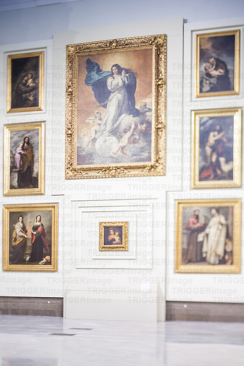 Murillo's paintings in the room V (Sevillian Baroque), Museum of Fine Arts, Seville, Spain