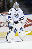 QMJHL (LHJMQ) hockey profile photo on Rimouski Oceanic Carl Hozjan October 6, 2012 at the Colisee Pepsi in Quebec city.