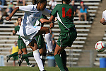 02 November 2008: North Carolina's Jessica McDonald (47) takes a shot. The University of North Carolina Tar Heels defeated the University of Miami Hurricanes 1-0 at Fetzer Field in Chapel Hill, North Carolina in an NCAA Division I Women's college soccer game.