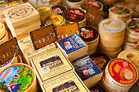Cheese market Stall Honfleur market France