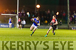 David Moran Kerry in action against Donal Vaughan Mayo in the National Football league at Austin Stack Park, Tralee on Saturday night.