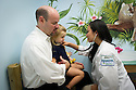 Children's Physicians, Jupiter, Fl. Patient's parent, left, release 20120522003, his daughter, release 20120522002, and Jocelyn Hu, class of 2014.