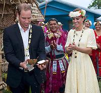 Kate, Duchess Of Cambridge & Prince William in Solomon islands and Tuvalu island