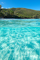 Split level of Trunk Bay<br />