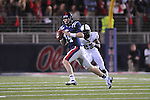 Ole Miss quarterback Bo Wallace (14) vs. Vanderbilt defensive back Andre Hal (23) at Vaught-Hemingway Stadium in Oxford, Miss. on Saturday, November 10, 2012. (AP Photo/Oxford Eagle, Bruce Newman)
