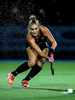 Samantha Harrison passes during the international hockey match between the Blacksticks Women and India, Rosa Birch Park, Pukekohe, New Zealand. Tuesday 16  May 2017. Photo:Simon Watts / www.bwmedia.co.nz