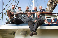 Port Ellen, Hebrides, Scotland, May 2010.  The Crew of the Thalassa. The Village of Port Ellen is a small community on the Island of Islay. Dutch Tallship Thalassa sails between the islands along the Scotish west coast in search of the quality single malt whisky that is produced by the many distilleries. Photo by Frits Meyst/Adventure4ever.com
