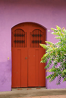 doorway of a restored house in the Spanish colonial city of Granada, Nicaragua