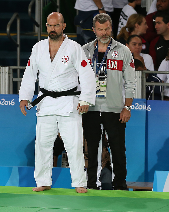 Rio de Janeiro-10/9/2016-Tony Walby competes in the mens 90kg judo event against Jorge Lencina from Argentina  at the 2016 Paralympic Games in Rio. Photo Scott Grant/Canadian Paralympic Committee