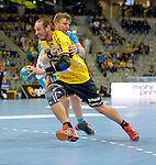 GER - Mannheim, Germany, September 23: During the DKB Handball Bundesliga match between Rhein-Neckar Loewen (yellow) and TVB 1898 Stuttgart (white) on September 23, 2015 at SAP Arena in Mannheim, Germany. Final score 31-20 (19-8) .  Kim Ekdahl du Rietz #60 of Rhein-Neckar Loewen<br /> <br /> Foto &copy; PIX-Sportfotos *** Foto ist honorarpflichtig! *** Auf Anfrage in hoeherer Qualitaet/Aufloesung. Belegexemplar erbeten. Veroeffentlichung ausschliesslich fuer journalistisch-publizistische Zwecke. For editorial use only.
