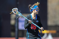Towson, MD - March 5, 2017: Florida Gators Cara Trombetta (16) in action during game between Towson and Florida at  Minnegan Field at Johnny Unitas Stadium  in Towson, MD. March 5, 2017.  (Photo by Elliott Brown/Media Images International)