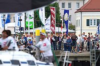 Crowds line the wharf at Langenargen during day 3 of Match Race Germany 2010. World Match Racing Tour. Langenargen, Germany. 22 May 2010. Photo: Gareth Cooke/Subzero Images/WMRT