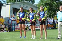 KAATSEN: ARUM: 28-07-2013, Dames Hoofdklasse wedstrijd, Harmke Siegersma, Joukje Kuperus, Feikje Bouwhuis, ©foto Martin de Jong