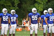 August 23, 2011. Durham, NC. Duke football practice before the 2011-12 season begins.