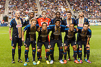 Philadelphia Union starting eleven. The Philadelphia Union defeated D. C. United 2-0 during a Major League Soccer (MLS) match at PPL Park in Chester, PA, on August 10, 2013.