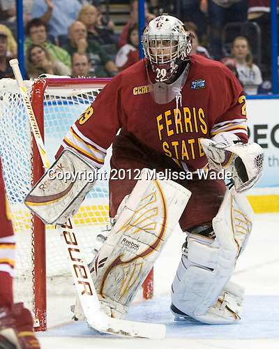 Taylor Nelson (FSU - 29) - The Boston College Eagles defeated the Ferris State University Bulldogs 4-1 (EN) in the 2012 Frozen Four final to win the national championship on Saturday, April 7, 2012, at the Tampa Bay Times Forum in Tampa, Florida.
