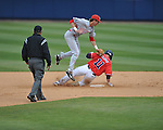Ole Miss' Zach Kirksey 911) hits a double vs. Houston at Oxford-University Stadium in Oxford, Miss. on Sunday, March 11, 2012. Ole Miss won 11-3 to sweep the three-game series.