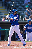 Tyler Holt (2) of the Oklahoma City Dodgers at bat during a game against the Iowa Cubs at Chickasaw Bricktown Ballpark on April 9, 2016 in Oklahoma City, Oklahoma.  Oklahoma City defeated Iowa 12-1 (William Purnell/Four Seam Images)