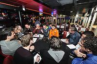 SCHAATSEN: HEERENVEEN: 29-01-14-2013, IJsstadion Thialf, Perslunch Schorttrack Olympische selectie, ©foto Martin de Jong