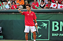 Yuichi Sugita (JPN), SEPTEMBER 17, 2011 - Tennis : Davis Cup by BNP Paribas 2011 World Group play-off match Tatsuma Ito/Yuichi Sugita (JPN) 1(5-7 6-3 3-6 6-7)3 Rohan Boppana/Mahesh Bhupathi (IND) at Ariake Colosseum, Tokyo, Japan. (Photo by Jun Tsukida/AFLO SPORT) [0003]
