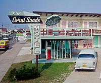 Coral Sands Motel, Wildwood Crest, NJ. Neon sign - 1960's.