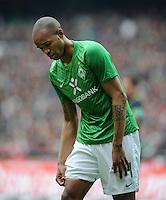 FUSSBALL   1. BUNDESLIGA   SAISON 2011/2012   32. SPIELTAG SV Werder Bremen - FC Bayern Muenchen               21.04.2012 Naldo (SV Werder Bremen)