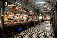 The interior of the fish market in Port Louis.