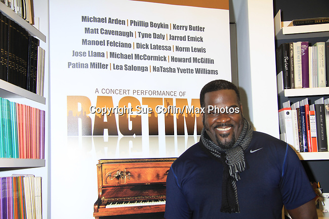 Rehearsals for Ragtime starring Phillip Boykin (Porgy & Bess) on February 11, 2013 for a concert at Avery Fisher Hall, New York City, New York on Monday February 18, 2013. (Photo by Sue Coflin/Max Photos)