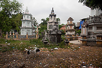 The cemetery for Buddhist monks at the Giac Vien Pagoda in District 11 in Ho Chi Minh City, Vietnam. Photo taken Monday, May 3, 2010...Kevin German / LUCEO