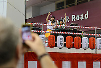 Performing at Hyper Japan 2014, Earls Court, London, UK, July 25, 2014. Hyper Japan is the UK's largest Japanese culture event. It took place at the Earls Court exhibition space from 25 to 27 July 2014.