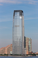 The Goldman Sachs Tower in Jersey City, New Jersey, overlooking the Hudson River.