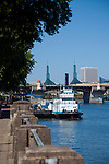 Governor Tom McCall Waterfront park opened in 1978 and was part of a greenway scheme developed at the turn of the last century (1903).  The park is 29 acres and includes fountains, grassy areas, a walkway that borders the river wall and the Japanese American Historical Plaza.