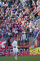 New England Revolution Fans. In a Major League Soccer (MLS) match, the New England Revolution defeated DC United, 2-1, at Gillette Stadium on March 26, 2011.