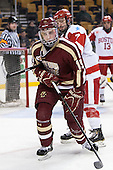 Ryan Fitzgerald (BC - 19), Cason Hohmann (BU - 7) - The Boston College Eagles defeated the Boston University Terriers 3-1 (EN) in their opening round game of the 2014 Beanpot on Monday, February 3, 2014, at TD Garden in Boston, Massachusetts.