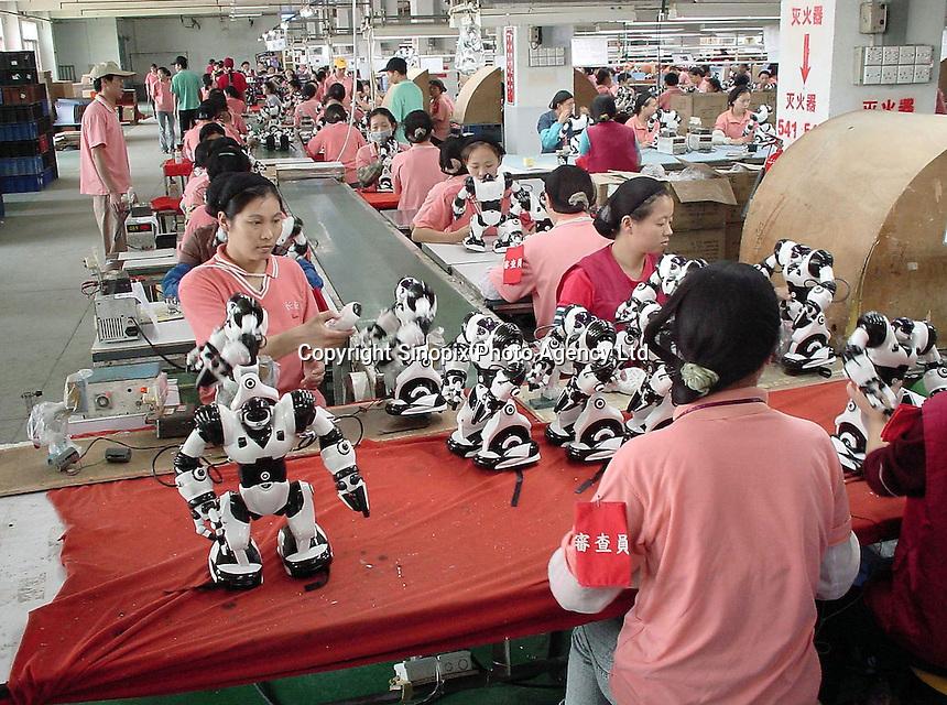 Robosapien factory in Guangdong, China.