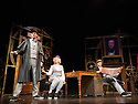 London, UK. 12.12.2014. POTTED SHERLOCK opens at the Vaudeville Theatre. Picture shows: Dan Clarkson, Lizzie Wort, Jeff Turner. Photograph © Jane Hobson