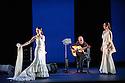 Sadler's Wells presents Esperanza Fernandez in DE LO JONDO Y VERDADERO, as part of the Flamenco Festival London 2016. Picture shows: Ana Morales, Miguel Angel Cortes, Esperanza Fernandez.
