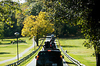 US Presidential motorcade arrives at the Woodmont Country Club in Rockville, Maryland, where United States President Barack Obama will go golfing, October 29, 20016. <br /> Credit: Aude Guerrucci / Pool via CNP /MediaPunch